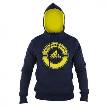 Hoody Combat Sports blue/yellow