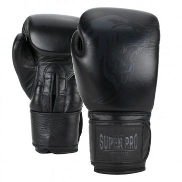 Super Pro Combat Gear Legend Leder Boxhandschuhe black