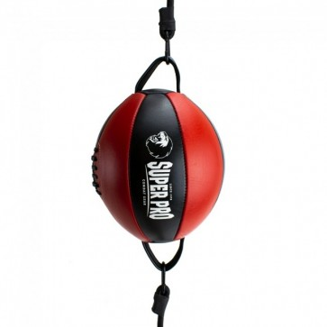 Super Pro Leder Double End Ball Black/Red onesize