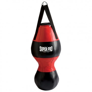 Super Pro Combat Gear Uppercut Boxsack black/red 80x33 cm