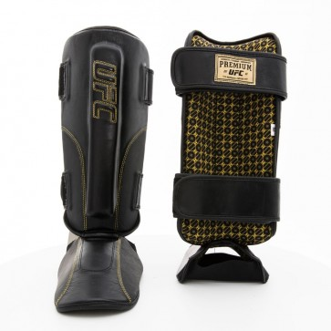 UFC Champ, Stand Up Shin Guard and Instep Leather black (UHK-75053)