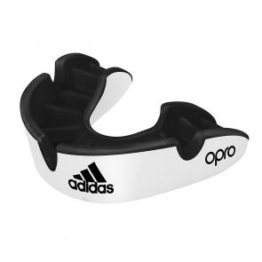 adidas Mundschutz OPRO Gen4 Silver-Edition Weiss