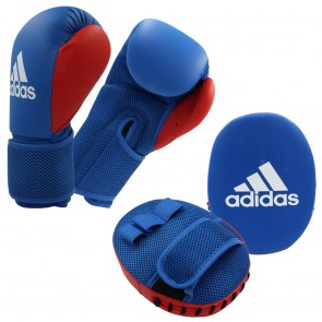 adidas Kids Boxing Kit 2 blue/red Onesize