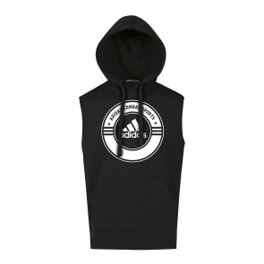 adidas Sleeveless Hoody Combat Sports black/white