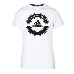 adidas T-Shirt Combat Sports white/black