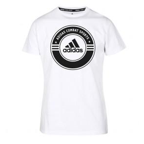 adidas T-Shirt Combat Sports white/black