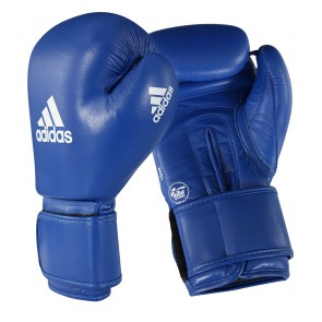 adidas AIBA Boxing Gloves Blau