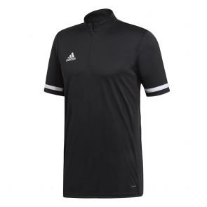 adidas T19 1/4 SS SHIRT M BLACK/WHITE