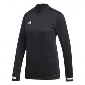 adidas T19 1/4ONG SLEEVE W BLACK/WHITE