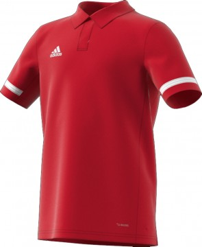 adidas T19 POLO YB POWER RED/WHITE