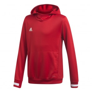 adidas T19 HOODY Y POWER RED/WHITE