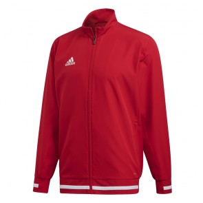 adidas T19 WOV JKT M POWER RED/WHITE