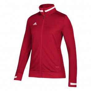 adidas T19 WOV JKT W POWER RED/WHITE