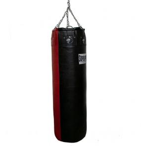 Super Pro Leder-Boxsack Gigantor Schwarz/Rot 138x42 cm