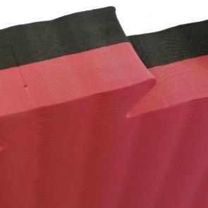 Puzzelmatte 100 x 100 x 4 cm Schwarz/Rot