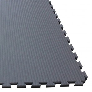 Puzzlematte 100 x 100 x 2,5 cm Grau/Schwarz