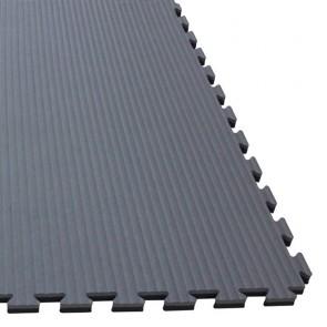 Puzzlematte 100 x 100 x 4 cm Grau/Schwarz