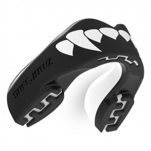 Safejawz Mundschutz Extro-Serie Dracula Black/White Junior