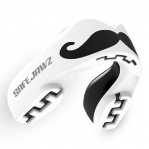 Safejawz Mundschutz Extro-Series Moustache White/Black Senior Senior