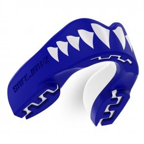 Safejawz Mundschutz Extro-Serie Shark Blue/White Junior Junior