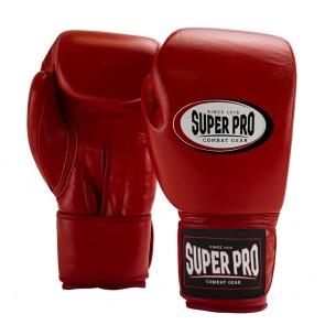 Super Pro Combat Gear Thai-Pro Leder (Thai-)Boxhandschuhe red