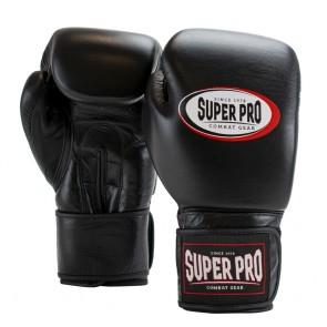 Super Pro Combat Gear Thai-Pro Leder (Thai-)Boxhandschuhe black