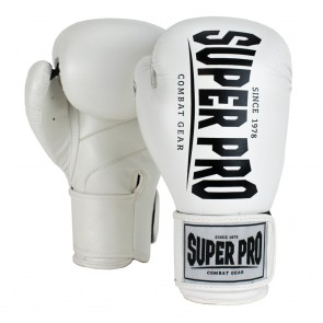 Super Pro Combat Gear Champ Boxhandschuhe white/black