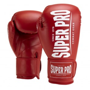 Super Pro Combat Gear Champ (Kick-)Boxhandschuhe red/white