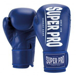 Super Pro Combat Gear Champ (Kick-)Boxhandschuhe blue/white