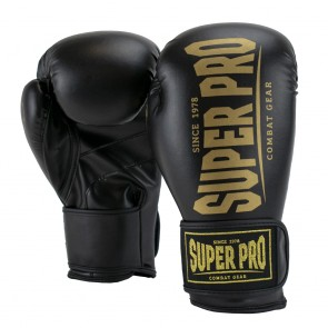 Super Pro Combat Gear Champ SE (Kick-)Boxhandschuhe black/gold