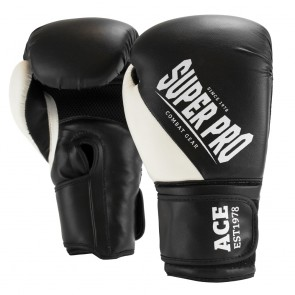 Super Pro Combat Gear ACE (Kick)Boxhandschuhe black/white