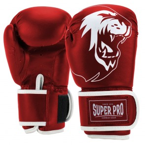 Super Pro Combat Gear Talent (Kick-)Boxhandschuhe red/white