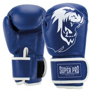 Super Pro Combat Gear Talent (Kick-)Boxhandschuhe blue/white