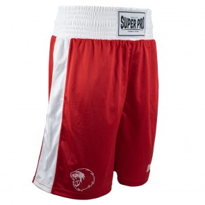 Super Pro Combat Gear Club Boxing Shorts red/white