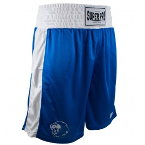 Super Pro Combat Gear Club Boxing Shorts blue/white