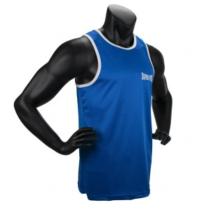 Super Pro Combat Gear Club Boxing Top Singlet blue/white