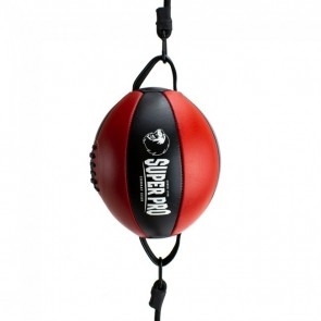 Super Pro Leder Double End Ball Black/Red onesize