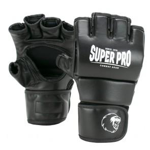 Super Pro Combat Gear Slugger MMA Handschuhe Leder black/white