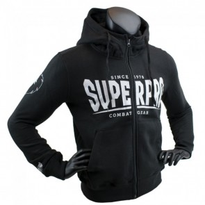 Super Pro Hoody mit Zipper S.P. Logo black/white