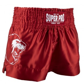 Super Pro Combat Gear Thai- und Kickboxing Shorts Hero red/white