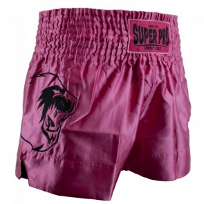 Super Pro Combat Gear Thai- und Kickboxing Shorts Hero pink/white