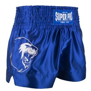 Super Pro Combat Gear Thai- und Kickboxing Shorts Hero blue/white