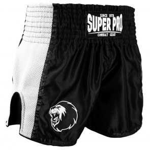 Super Pro Combat Gear Thai- und Kickboxing Shorts Brave black/white