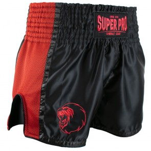 Super Pro Combat Gear Thai- und Kickboxing Shorts Brave black/red