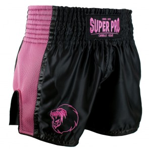 Super Pro Combat Gear Thai- und Kickboxing Shorts Brave black/pink