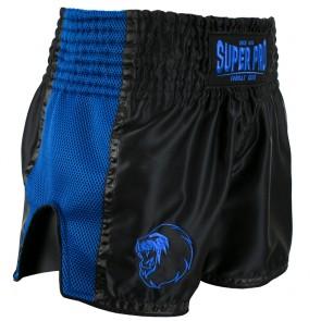 Super Pro Combat Gear Thai- und Kickboxing Shorts Brave black/blue