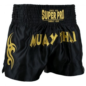 Super Pro Combat Gear Thaiboxing Shorts Fighter black/gold