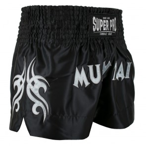 Super Pro Combat Gear Thaiboxing Shorts Fighter black/silver