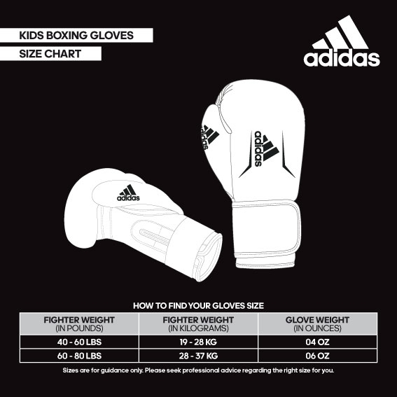 size helper kids boxing gloves